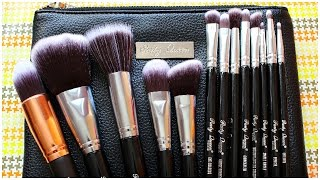 Party Queen Beauty - 12 Pcs Silver Professional Makeup Brushes Set from eBay |Unboxing,Review & Demo