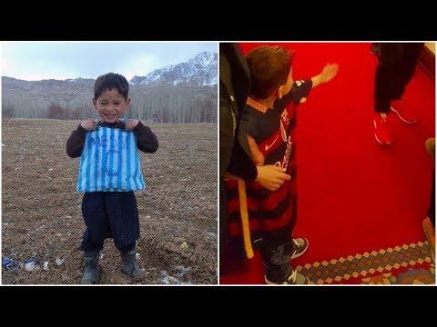 After This Afghan Boy Made His Idol's Soccer Shirt From A Plastic Bag, His Wildest Dreams Came True