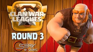 🔴 LIVE CLAN WAR LEAGUES CHEZ OSERV E-SPORT | ROUND 3 | Clash of Clans