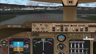 Flight Simulator 2004: 747 flight from Los Angeles to San Fransisco