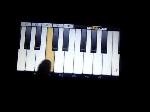 Видео урок пианино на планшете