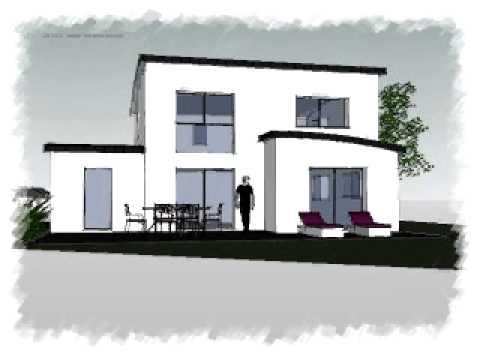 Arteco 284 maison contemporaine toute hauteur en toiture for Maison moderne zinc