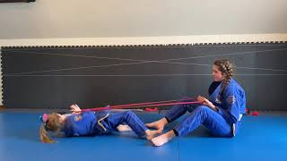"Jiu-Jitsu Partner-workouts with Resistance Bands-""Resisted Shrimping""-BJJ exercises for everyone"