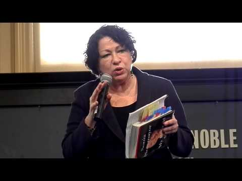 Judge Sonia Sotomayor speaking at Barnes and Noble.