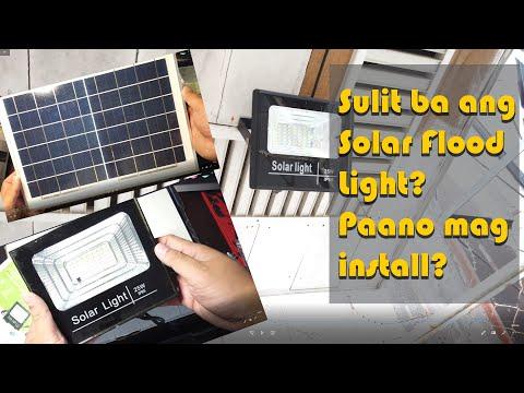 Sulit ba ang Solar Flood Light – how to install solar flood light