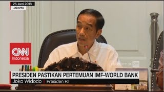 jelang pertemuan imf world bank jokowi berikan kepastian