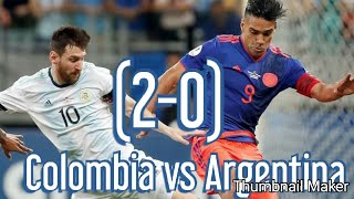 Colombia vs Argentina (2-0) Resumen completo - Copa América 2019