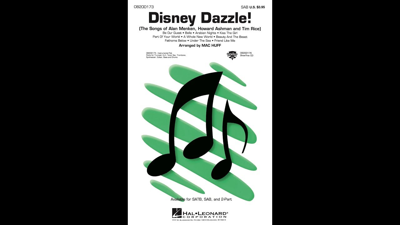 Disney dazzle sheet music for piano download free in pdf or midi.