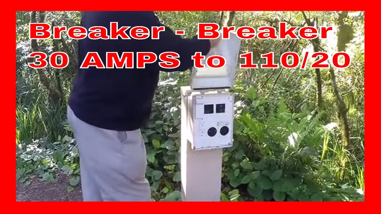 Breaker Plug From 30 Amps To 110 120 Youtube Wiring A 50 Amp Welder