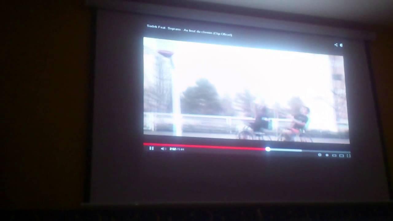 video projecteur optoma ds330 et ecran projecteur youtube. Black Bedroom Furniture Sets. Home Design Ideas