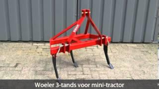 Woeler 3-tands voor mini-tractor