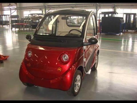 Inside a Chinese small electric car