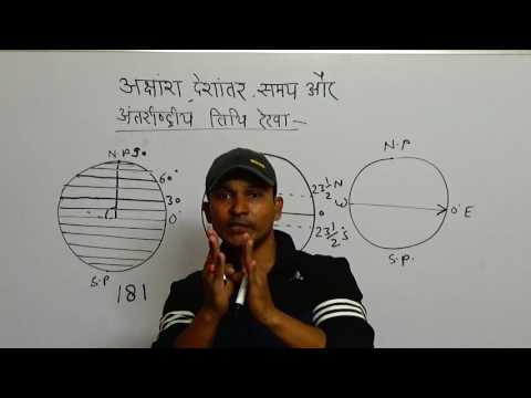 Latiitude and Longitude Lines(अक्षांश-देशांतर रेखाएं ) अध्याय-5