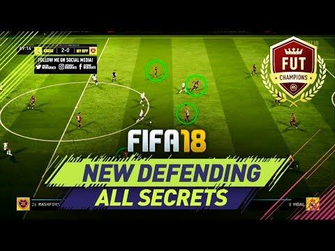 FIFA 18 NEW DEFENDING - ALL SECRETS REVEALED - BEST DEFENDING TECHNIQUES in FUT CHAMPIONS