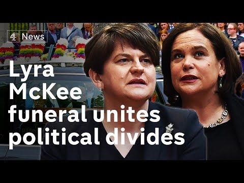 Lyra McKee funeral attended by political leaders from across political divides