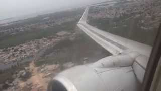 Taag 737-700 goes max power after take off; scary engine roar!!!!! while turning