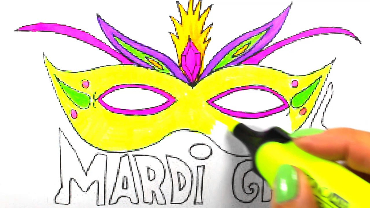 how to draw mask mardi gras mask coloring how to draw mardi gras