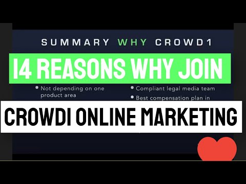 14 REASONS WHY YOU NEED TO JOIN CROWD1