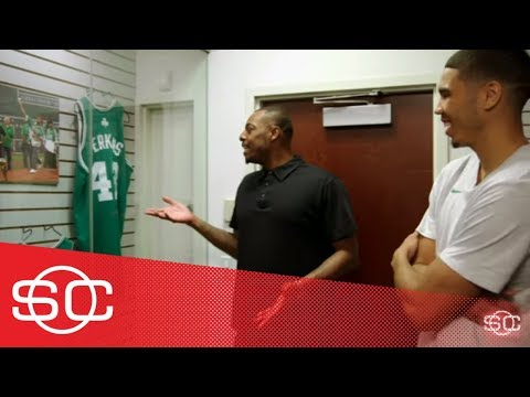 Paul Pierce takes Jayson Tatum down Celtics memory lane | SportsCenter | ESPN