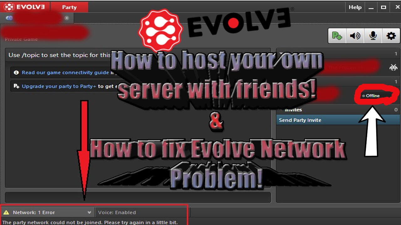 How To Host Servers With Friends And How To Fix Evolve Network - Minecraft server party erstellen