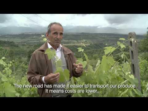 Improving local roads in Albania