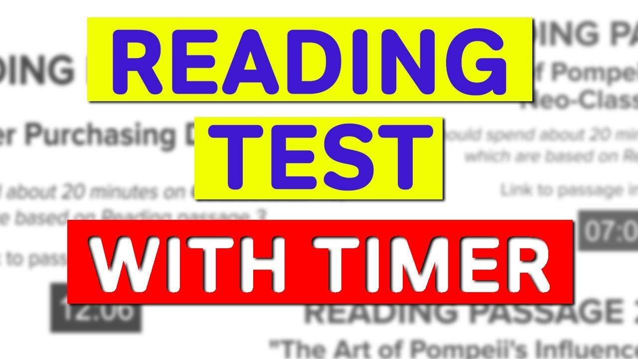 IELTS Academic Reading Practice Test (with answers!) | Video Post
