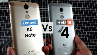 Redmi Note 4 vs Lenovo K5 Note | Battery, Camera, Gaming, Design& Build, Sound