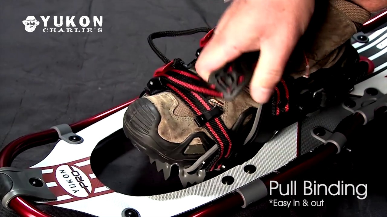How to Open and Close the One Pull Binding on Your Yukon Charlie's Snowshoes