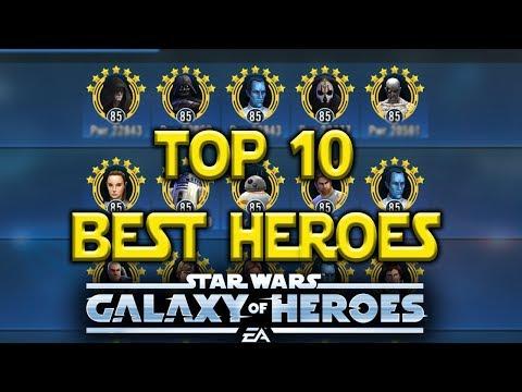 Top 10 Best Heroes April | Star Wars: Galaxy Of Heroes
