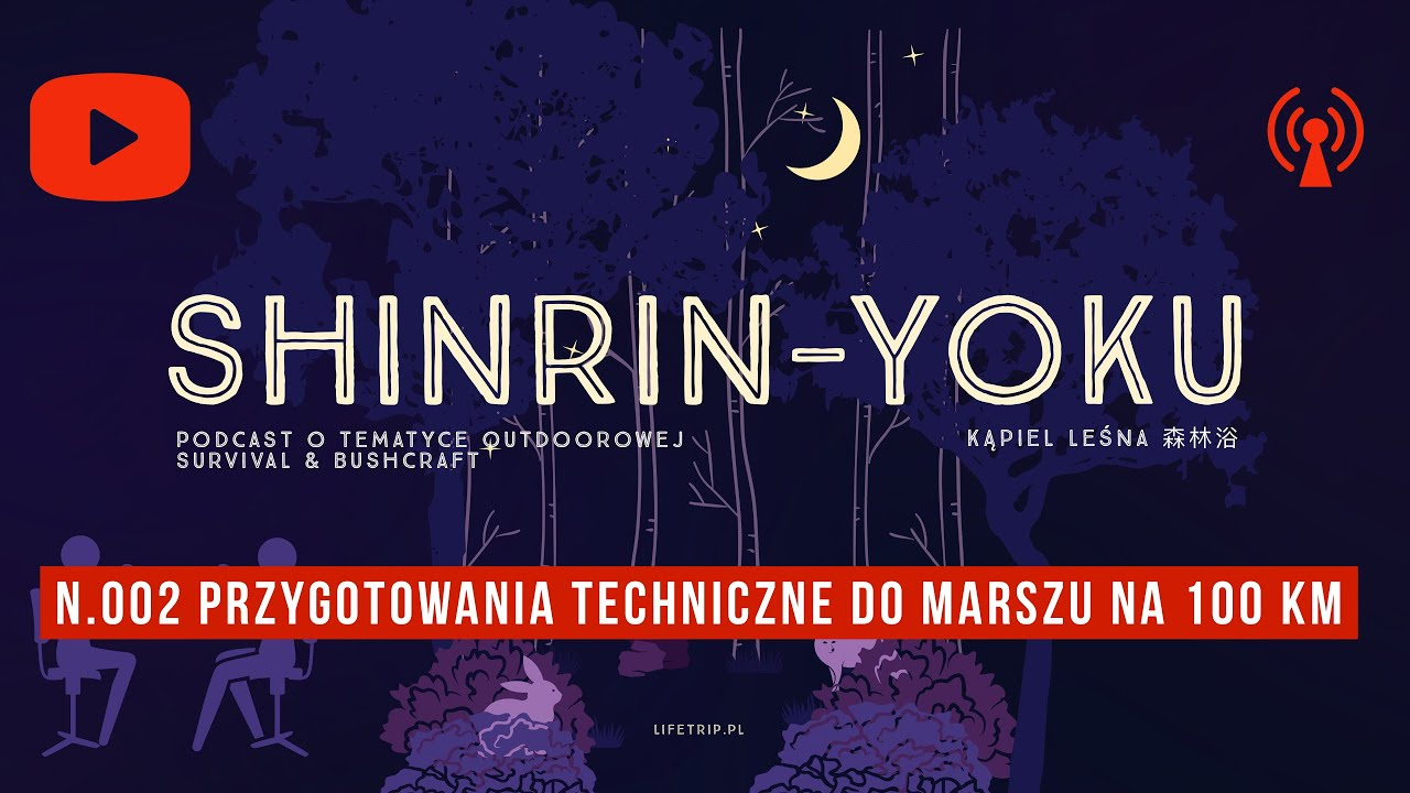 nr 002. Podcast SHINRIN-YOKU - techniczne przygotowanie się do trekkingu