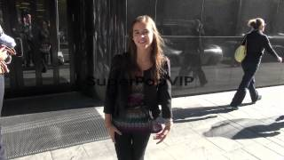 Carly Rose Sonenclar at the 'Good Day New York' studio in...