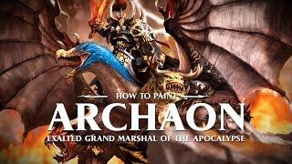How to paint Archaon, Exalted Grand Marshal of the Apocalypse.