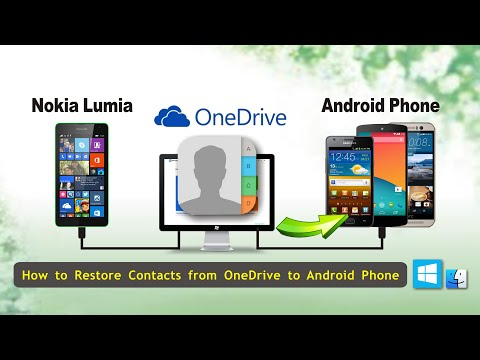 Backup Contacts from OneDrive Backup to Android