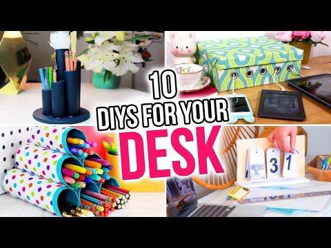10 DIYs for Your Desk! Back to School Desk Organizers & More! - HGTV Handmade