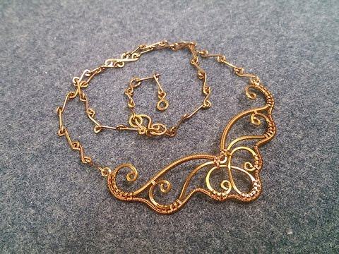 Wire necklace - How to make wire jewelry 217