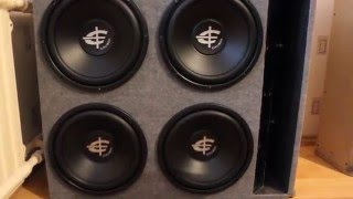 "4x12"" SUBWOOFERS PLAYING ""Get Out"" by Baby-D 