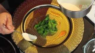 Сёмга с соусом и шпинатом