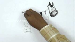 How to Draw a Cartooon Zebra