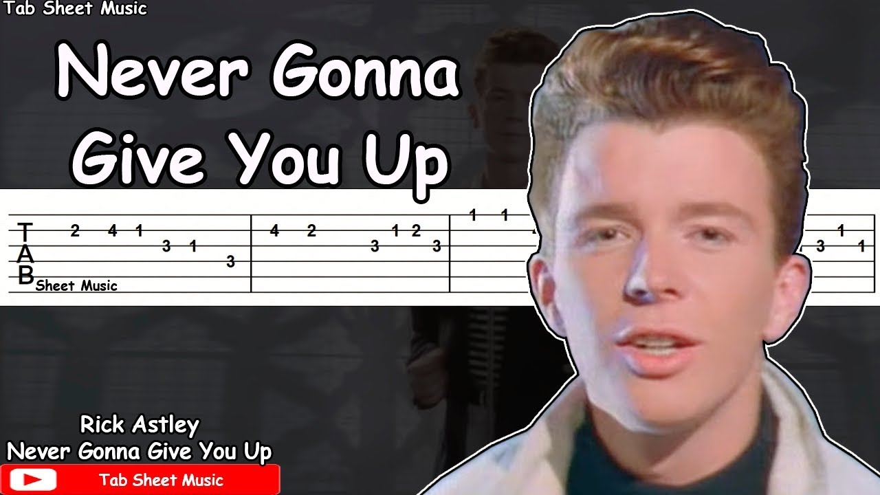 Rick Astley Never Gonna Give You Up Guitar Tutorial Youtube