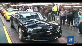 First 2010 Chevrolet Camaro VIN0001 Drives Off the Line - Plant Footage