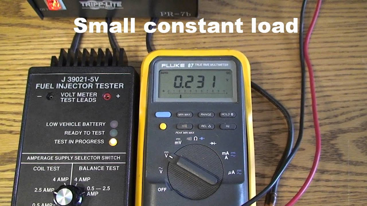Voltage Drop Tester : Air injector wiring voltage drop test youtube