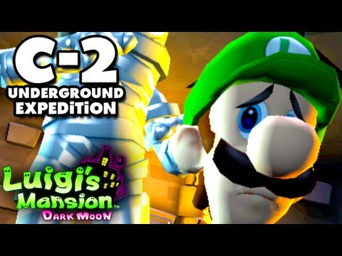 Luigi's Mansion Dark Moon - Old Clockworks - C-2 Underground Expedition (Nintendo 3DS Walkthrough)
