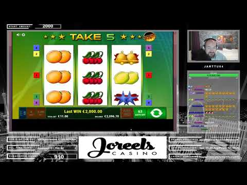 Really Nice Line Hit From Take 5 Slot At Joreels Casino!!