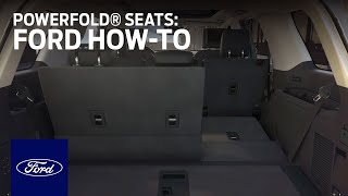 PowerFold® Seats | Ford How-To | Ford