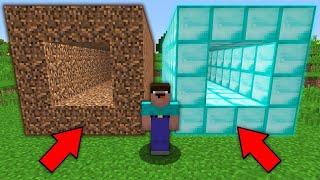 Minecraft NOOB vs PRO: WHICH TUNNEL WILL NOOB CHOOSE? DIRT vs DIAMOND Challenge 100% trolling
