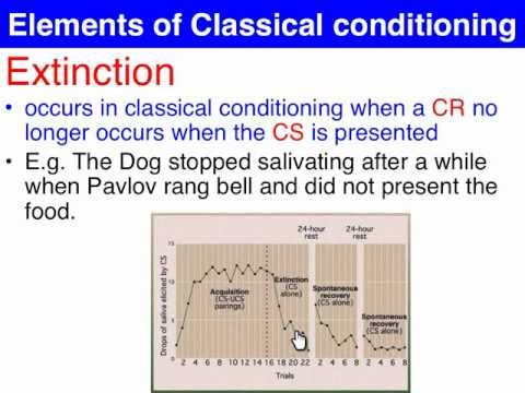 Extinction & Spontaneous recovery - Classical Conditioning