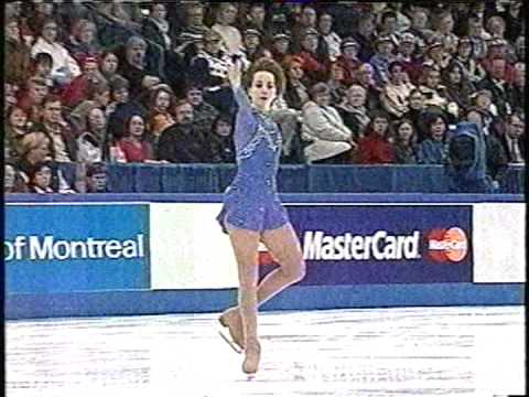 SARAH HUGHES, AT SKATE CANADA,2001.