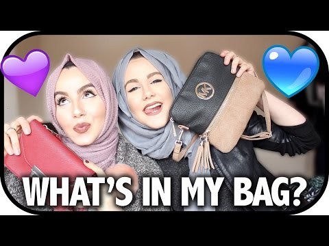 WHAT'S IN OUR BAGS? | Amina Chebbi