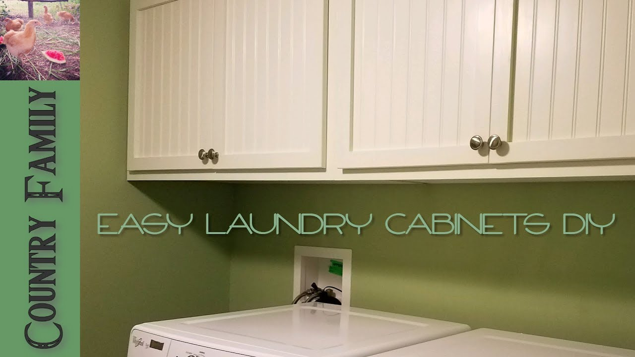 How To Build Overhead Laundry Cabinets