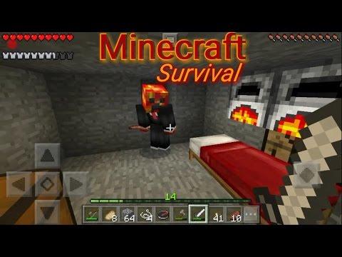 [Minecraft-Survival] - První diamanty !!! tvorba zahrádky a průzkum /w Hruška